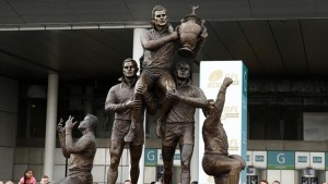 Rugby Football League statue Wembley